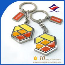 Wholesale customized custom enamel colorful keychain