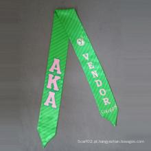 Lenço de cetim de poliéster, Gravata de gravata de impressão digital