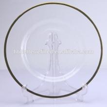Goldrand Glas Ladegerät Platte