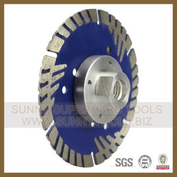 Turbo Diamond Blade Flange for Stone Concrete Cutting (SY-TDBF-1002)