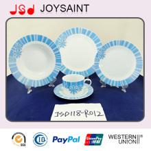 Beste Qualität neue Bone China Geschirr Set mit blauen Aufkleber (JSD118-R012)