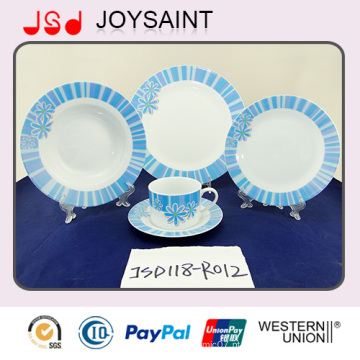 Melhor qualidade New Bone China Dinnerware Set com decalque azul (JSD118-R012)