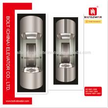 Sino Alemán 630KG ~ 1000KG Capacidad de cristal panorámico ascensor ascensor
