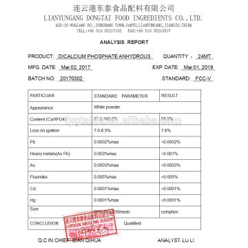 DCPA, fosfato dicálcico
