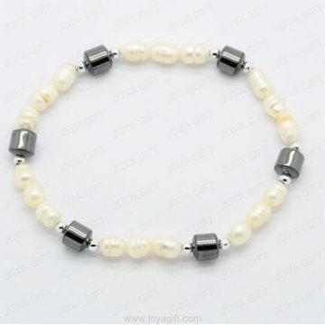 bracelet hématite perle de forme ovale