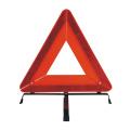 Triângulo de aviso de segurança do carro dobrável de emergência na estrada