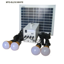 8hrs lighting 4 lamps home solar 10w solar light kit