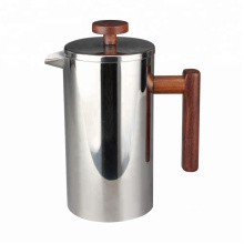 French Press with Wooden Handle and Knob
