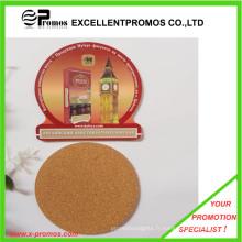 Logo personnalisé Coaster en liège de qualité supérieure imprimé (EP-C8270B)