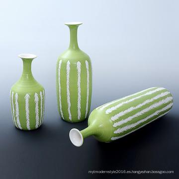 Fabricante de artesanía personalizada de cerámica Jarrón de artesanía para la decoración de jardinería (P17K)