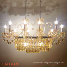 Indoor modern light for dinning table turkish candle chandelier baccarat handing