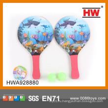 Самая популярная детская ракетка для пляжа с шариками из деревянной пляжной ракетки