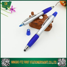 Plastic 3 in 1 Stylus Pens With Highlighter