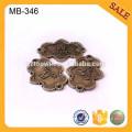 MB346 Antike Messing Metall Kleidungsstück Tag Kleidung Metall Name Tags Metall Label Tag