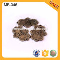 MB346 Antique Brass Metal Garment Tag Clothing Metal Name Tags Metal Label Tag