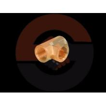 """Racores de tubería de latón duradero, te de latón con roscas NPT de 1/4 """"a 2"""""""