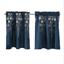short smart rods showerembroidery embroidered curtain curtains set for door bedroom car
