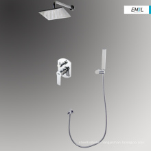 Bathroom modern square shower head tap units