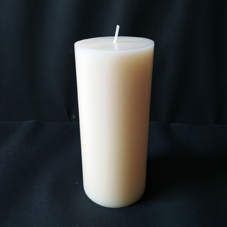 Ivory Color Vanilla Scents Flat Top Pillar 2