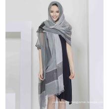 30% Seide 70% Modell Yarn Dye Schal