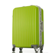 Haute qualité PC Hard Shell Aluminium Suitcase Trolley Travel Stripe Luggage
