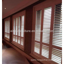 Stylish waterproof country woods blinds vinyl plantation shutters