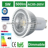 2014 CE ROHS ERP 3years warranty cob led spotlight; high quality 5W 420lm gu10 led cob spotlight,