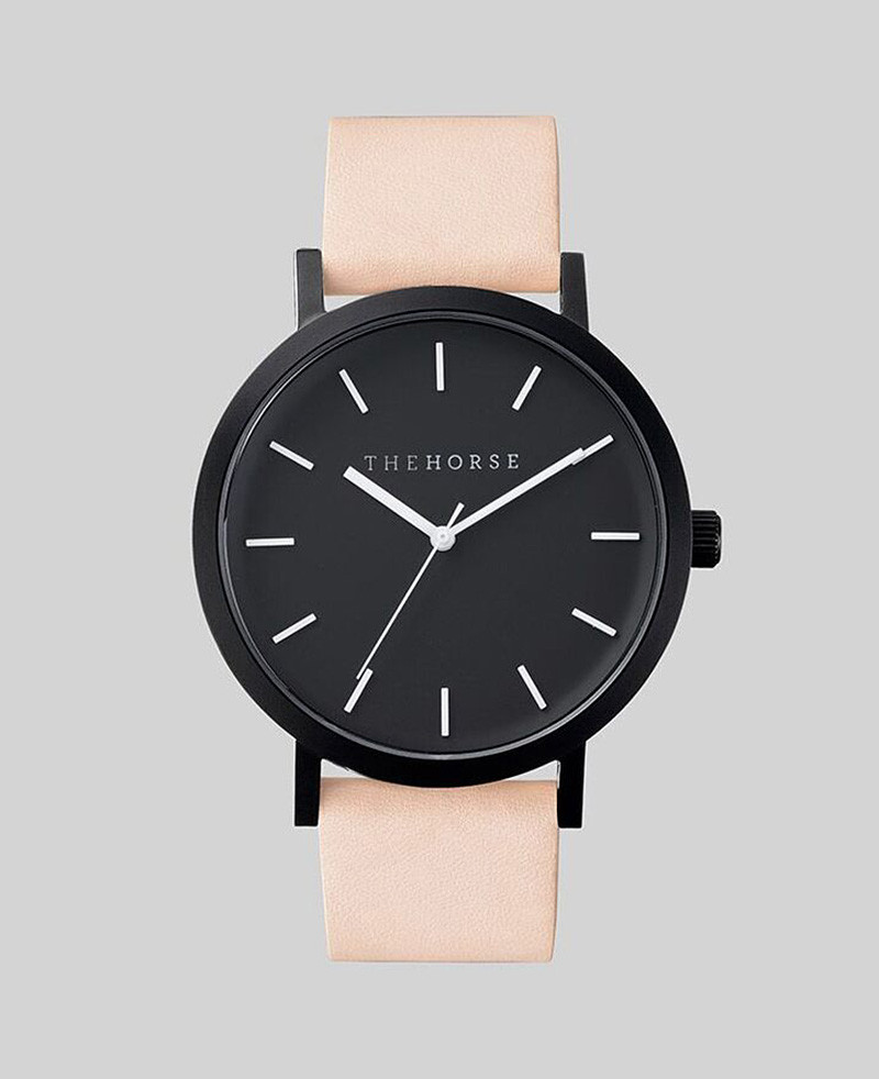 luscious leather band girl quartz watch