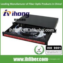 SC / FC / ST 19 '' estructura estándar de fibra óptica terminal de la caja / ODF / patch panel