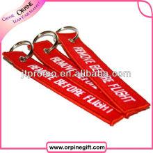 Benutzerdefinierte kurze Lanyard Polyester Stickerei Schlüsselanhänger