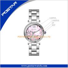 Premier joyas de diamantes Set Polised Bezel reloj de pulsera de las mujeres