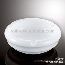 Japan style good quality chinese modern line porcelain ashtray