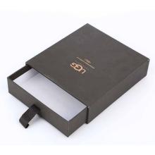 Caixa de presente pequena gaveta com logotipo de ouro