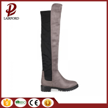 winter long genuine leather over knee boots