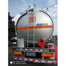 China for Liquid Tank Semi-Trailer 46CBM Tri-axle Alu. Alloy Fuel Tank Semi-Trailer export to Tanzania Suppliers