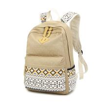 Alunos de mochila de lona mochila para adolescentes