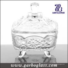 Pot de confiture en verre décoratif et pot de verre pour Sweety (GB1818JH)