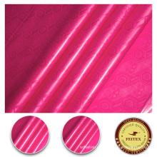 Tela de algodón 100% orgánica para la ropa africana de las mujeres Bazin Shadda Brocade Nigeria Style