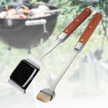 Escova de limpeza de churrasco de alta qualidade e regando o conjunto de escova