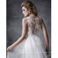 Украшен изящными бисером кружевные аппликации сказочный свадебное платье