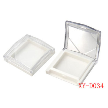 Square Soild White Compact Powder Container