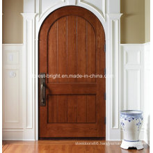 Round Top Mahogany Wood Entry Door