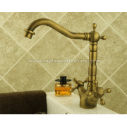 Classic Style Antique Brass Bathroom Basin Sink Faucet Mixer Tap