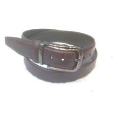 Cinturón de cuero de los hombres de moda con hebilla reversible