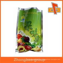 Material laminado três lado selo térmico personalizado frutas especiarias saco alimentar pacote atacado
