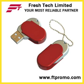 Swivel de Metal promocional Flash Drive USB para Custom (D204)