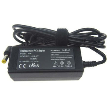 Adaptador do carregador do poder de 12v 3a com CC 5.5 * 2.5mm