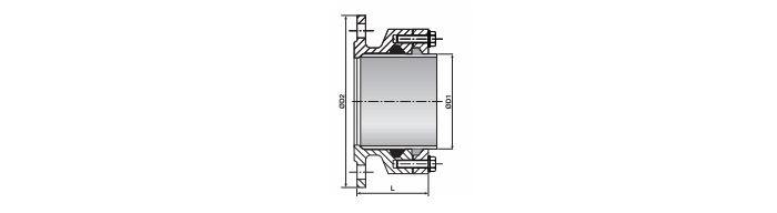 PE flange adpator drawing