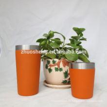 tazas café plástico reutilizable de alta calidad de impresión de la insignia de encargo
