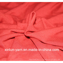 Tecido de algodão macio de sarja para forro / vestido de desporto roupa interior